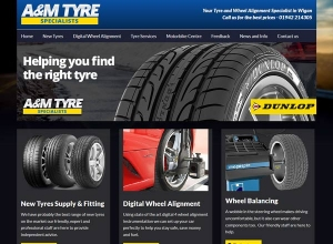 AM Tyres Website
