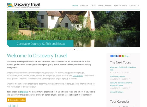 Discovery Travel Website
