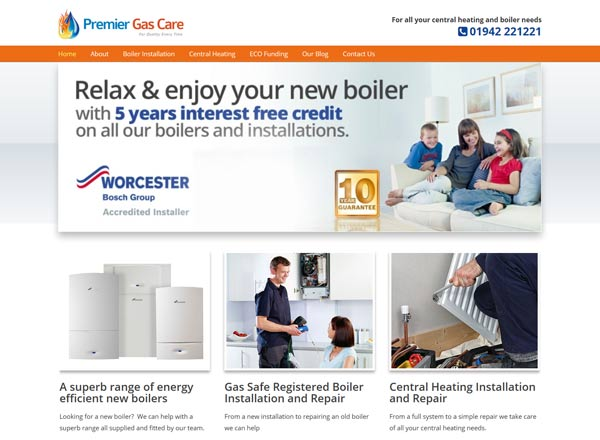 Premier Gas Car Website - Wigan